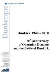 70e anniversaire de l'Opération Dynamo, version anglaise...