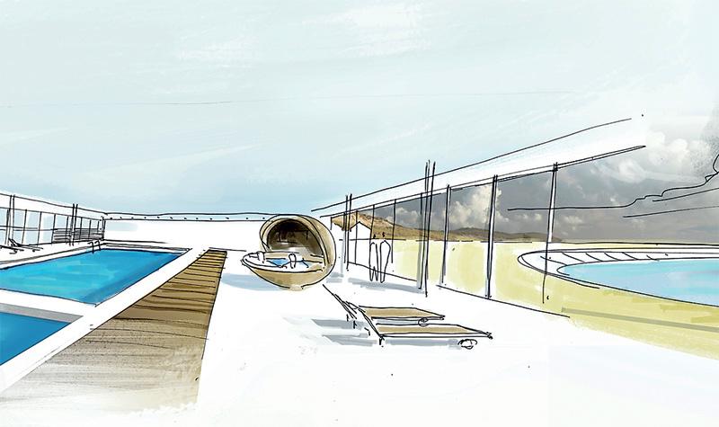 Un spa ouvert sur la plage et accessible à tous, sur plus de 850 m2 au rez-de-chaussée de l'hôtel