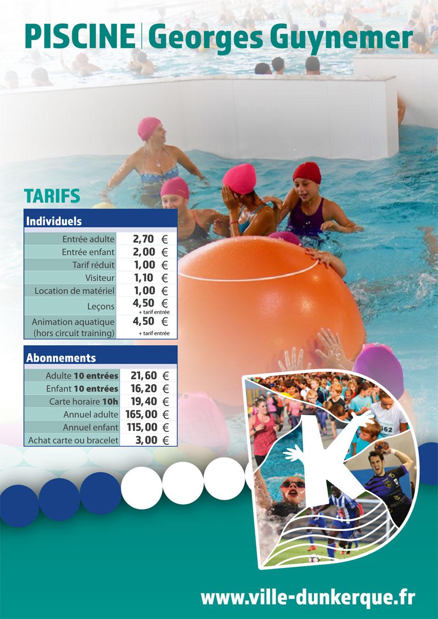La piscine georges guynemer for Tarif piscine diffazur