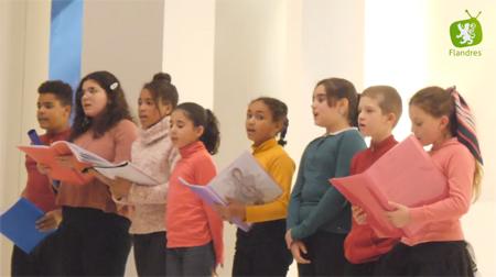 Festival de chorales d'enfants à Coxyde (B), le 16 novembre 2019...