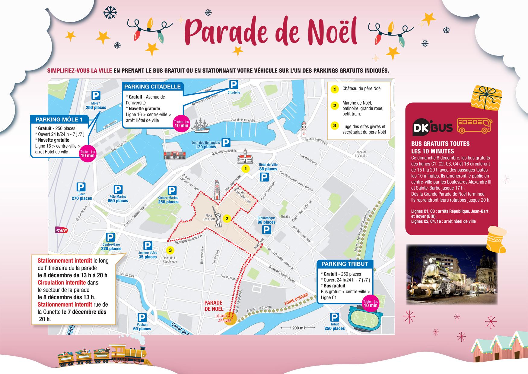 LA PARADE DE NOËL, LE DIMANCHE 8 DÉCEMBRE - 17H30 – Centre-ville