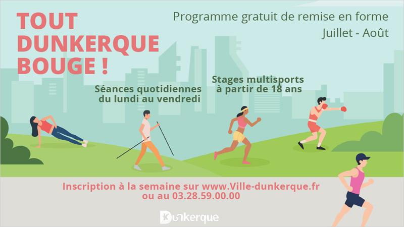 """""""Tout Dunkerque bouge"""", programme de l'été !"""