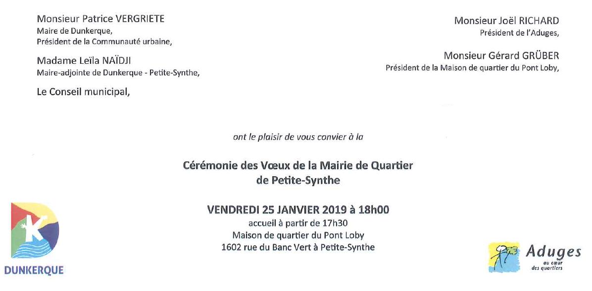 Vœux Petite-Synthe